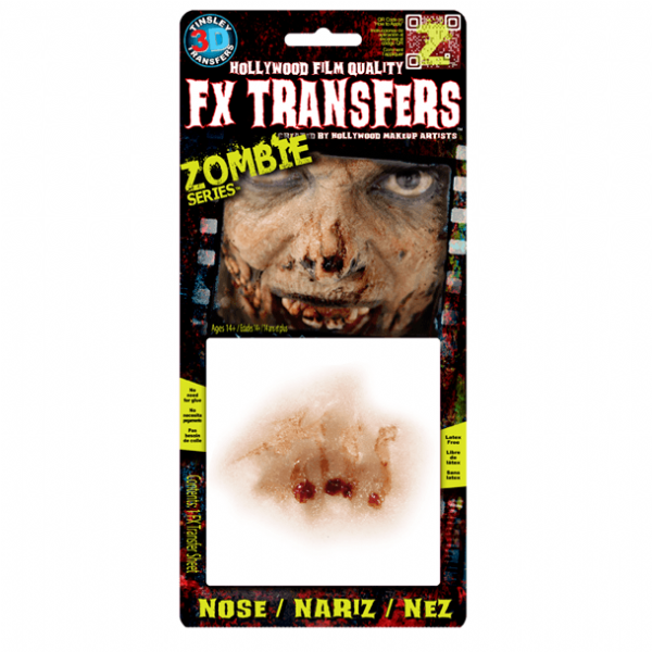 Tinsley 3D Transfers Zombie Nose
